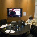 Photo of video screening